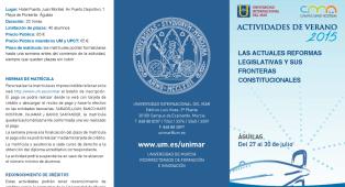Programa Actividades de verano de la Universidad de Murcia 2015