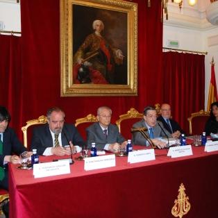 De izquierda a derecha, Fernando Gascon Inchausti, José Muelas Cerezuela, Federico Carpi, Andrés de la Oliva Santos, Soraya Amrani-Mekki y Manuel Ortells Ramos.